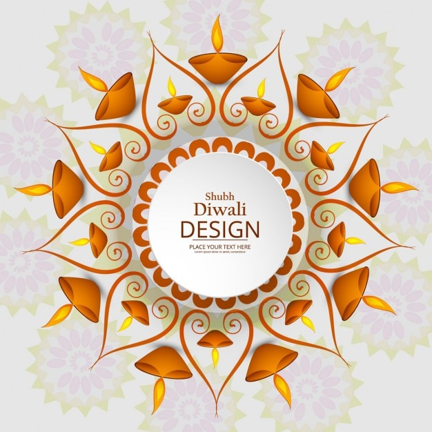 Asombroso fondo para celebrar diwali Vector Gratis