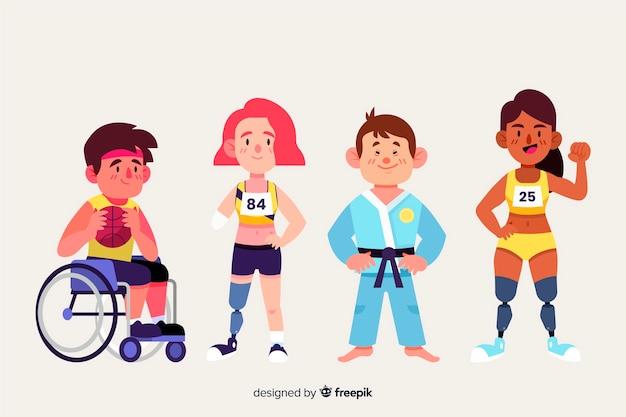Atleta discapacitado vector gratuito
