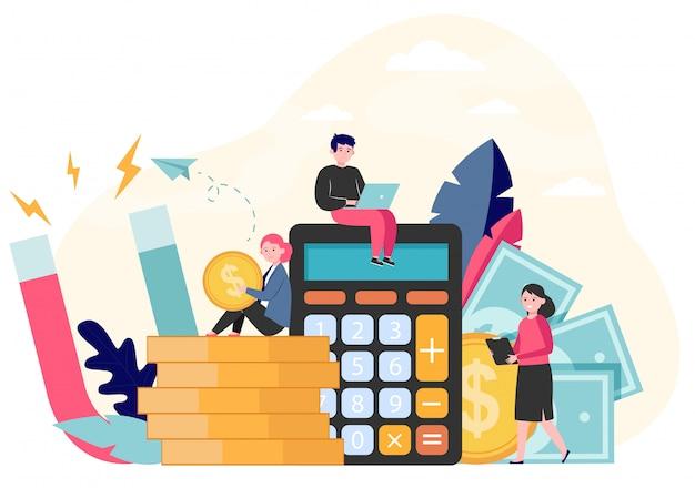 Atracción de dinero e ingresos vector gratuito