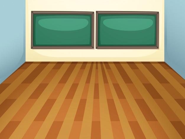 Un aula vacía en el fondo de ilustración de la escuela vector gratuito