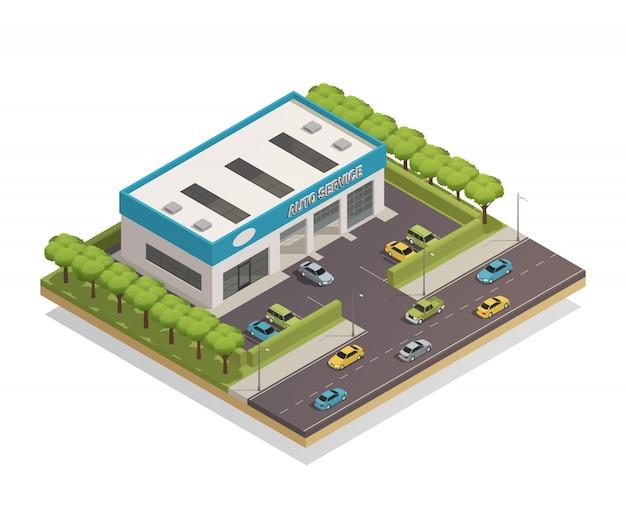 Auto service composition vector gratuito