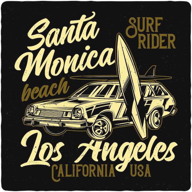 Auto y tablas de surf Vector Premium