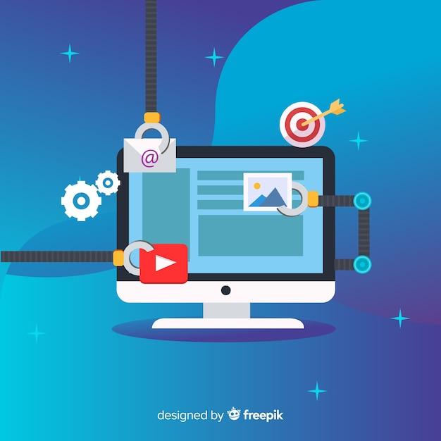 Automatización del marketing vector gratuito