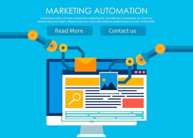 Automatización de marketing vector gratuito