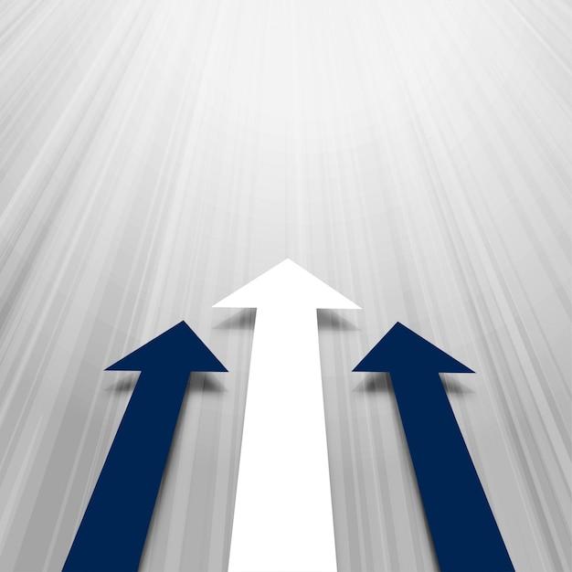 Avanzando fondo de negocios de flechas vector gratuito