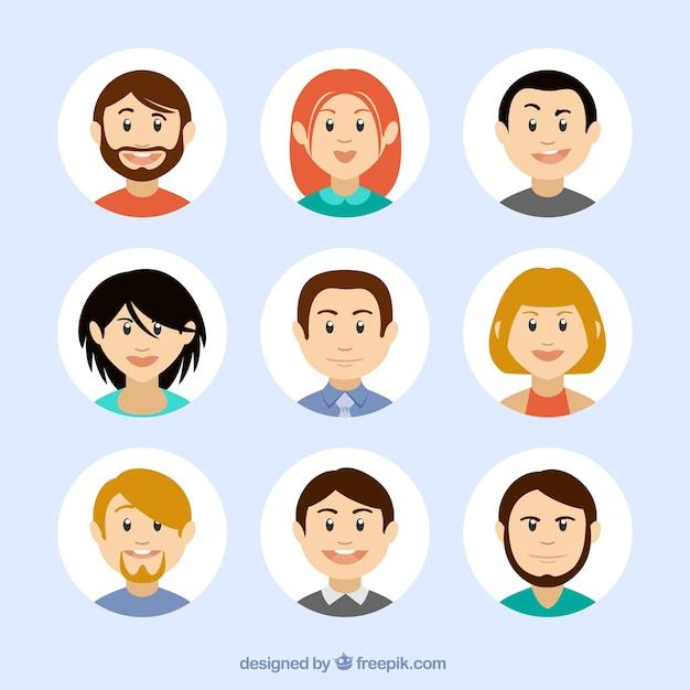 Avatares en estilo de dibujos animados descargar