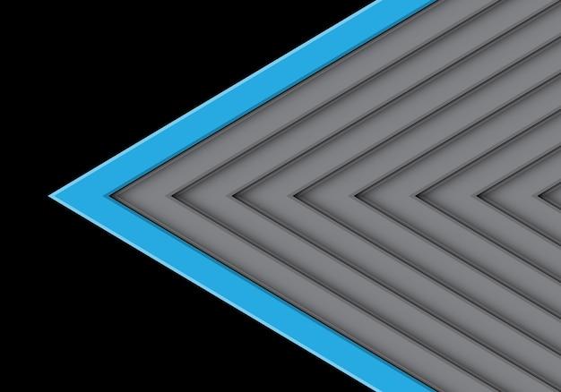 Azul En La Dirección Del Patrón De Flecha Gris Con Fondo