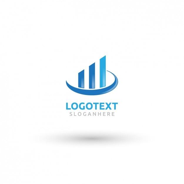 Azul logotipo de bienes raíces vector gratuito