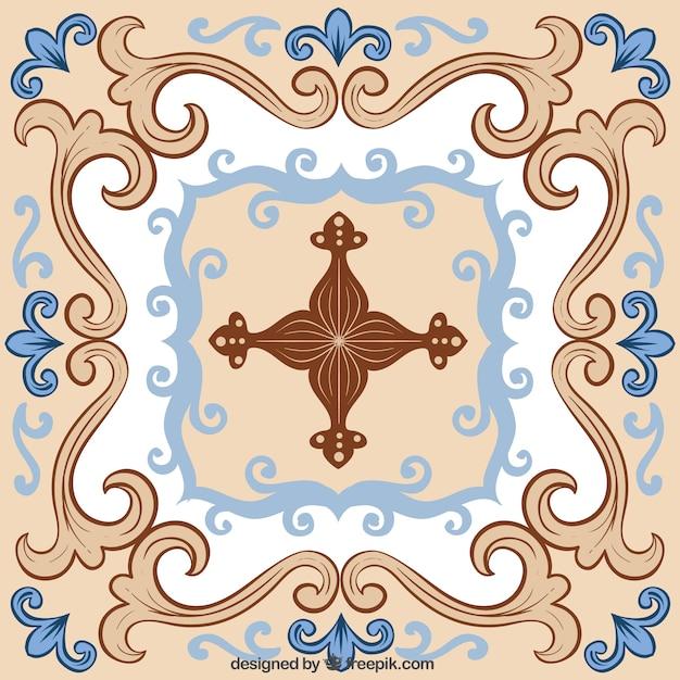 Azul y baldosas de cerámica de color beige | Descargar Vectores Premium
