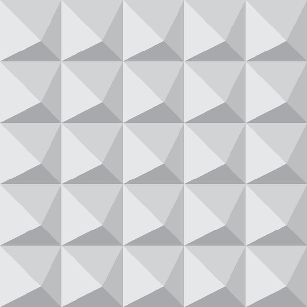 6a68c83b9db Azulejo 3d sin fisuras patrón geométrico con forma de pirámide Vector  Premium