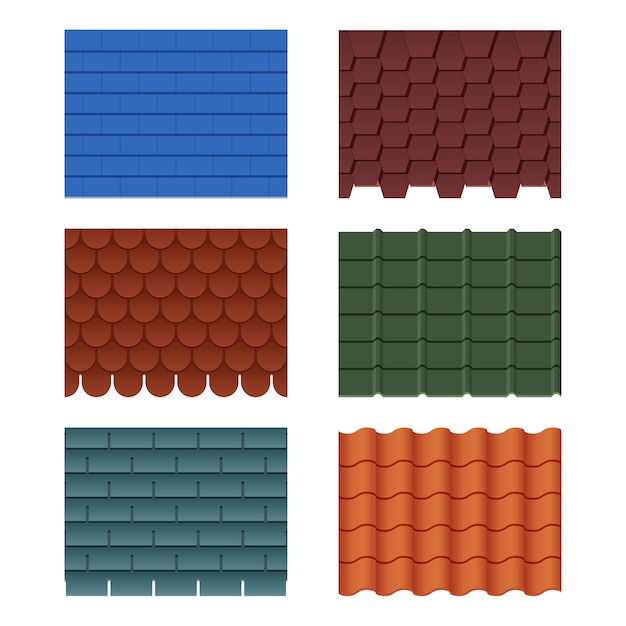 Azulejos para casa techada. Vector Premium