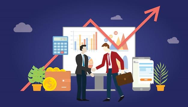 B2b marketing de negocio a negocio Vector Premium