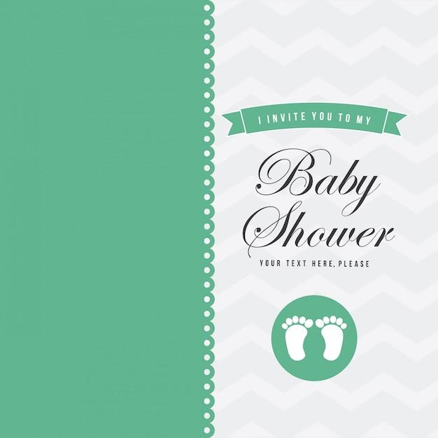 Baby shower Vector Premium