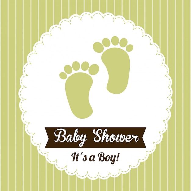 Baby shower vector gratuito