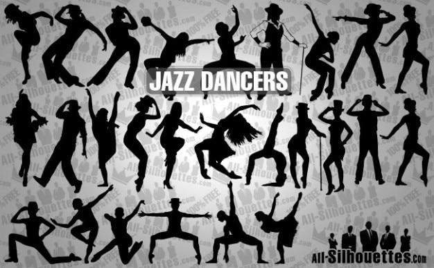 bailarines de jazz Vector Gratis