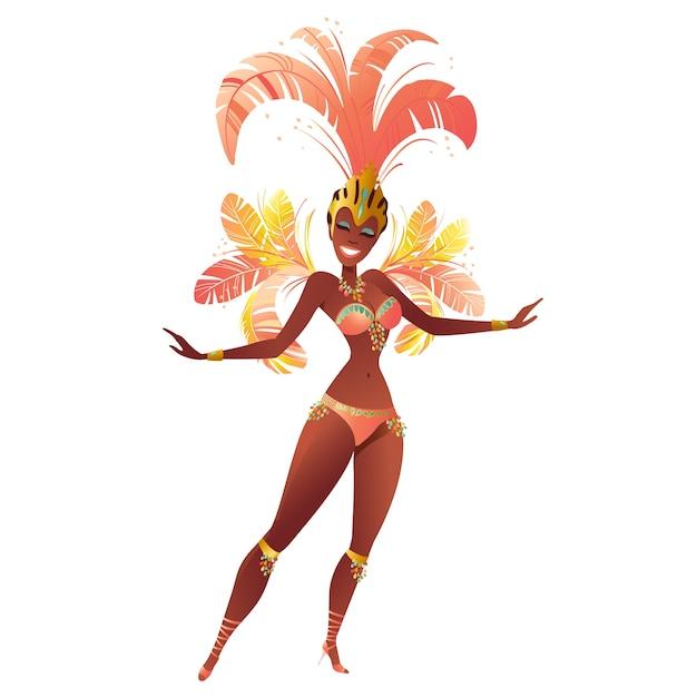 4fbe8b4342e6 Bailarines de samba brasileños. carnaval en río de janeiro niñas un ...