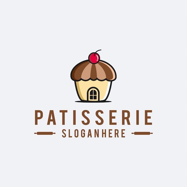 Baker patisserie logo Vector Premium