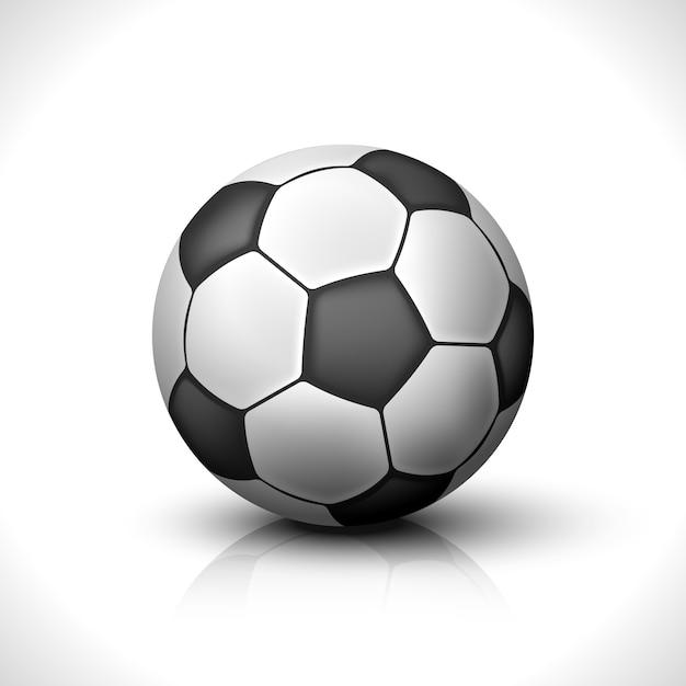 Balón de fútbol aislado vector gratuito