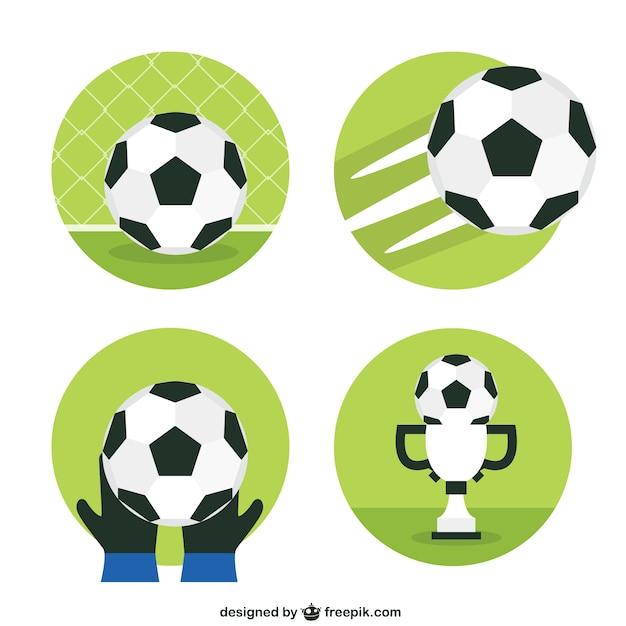 Balones de fútbol | Descargar Vectores Premium