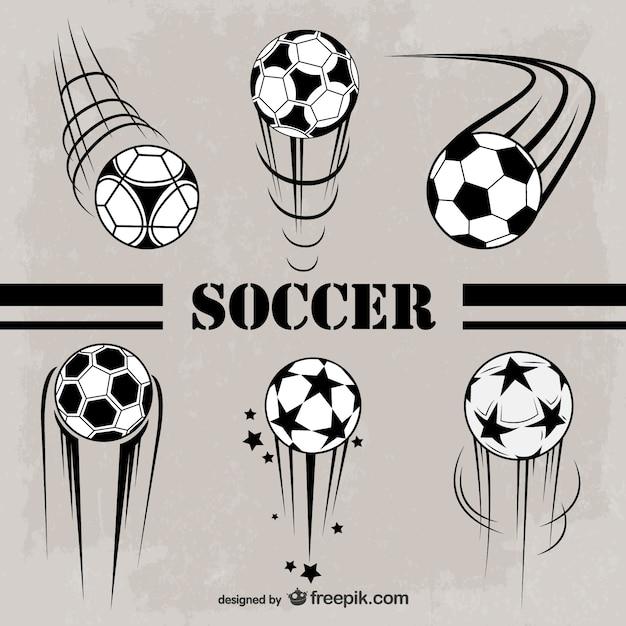 2fd1ee02c5ccf Balones de fútbol en blanco y negro