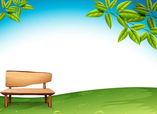 Un banco de madera vector gratuito