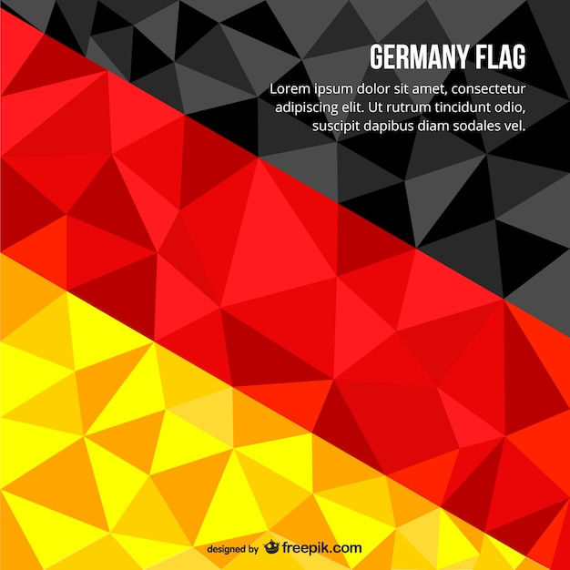 Bandera alemana poligonal vector gratuito