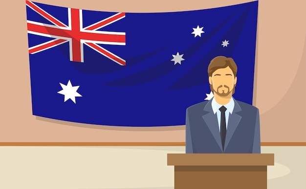 Bandera de australia Vector Premium