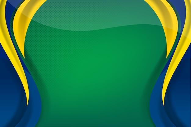 Bandera de brasil concepto de fondo para la independencia Vector Premium