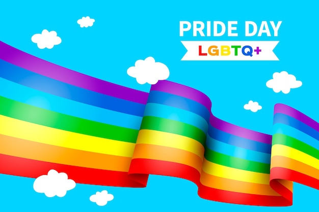 Bandera colorida del día del orgullo vector gratuito