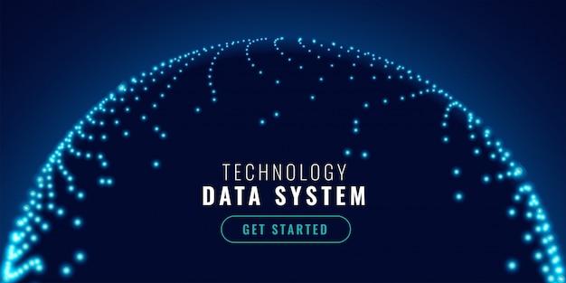 Bandera de concepto de conexión de red de tecnología vector gratuito
