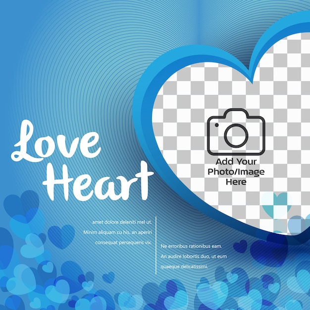 Bandera del corazón del amor Vector Premium