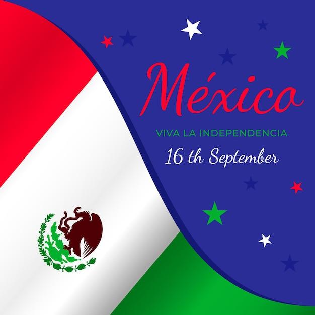 Bandera del dia internacional de mexico vector gratuito