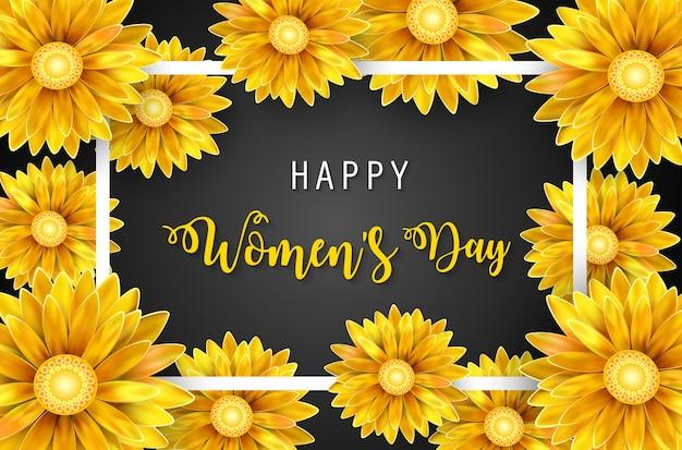 Bandera del día de la mujer Vector Premium