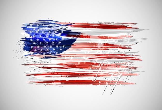 Bandera de estados unidos Vector Premium