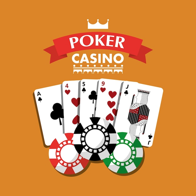 Bandera De Fichas De Juego De Cartas De Poker De Casino Descargar