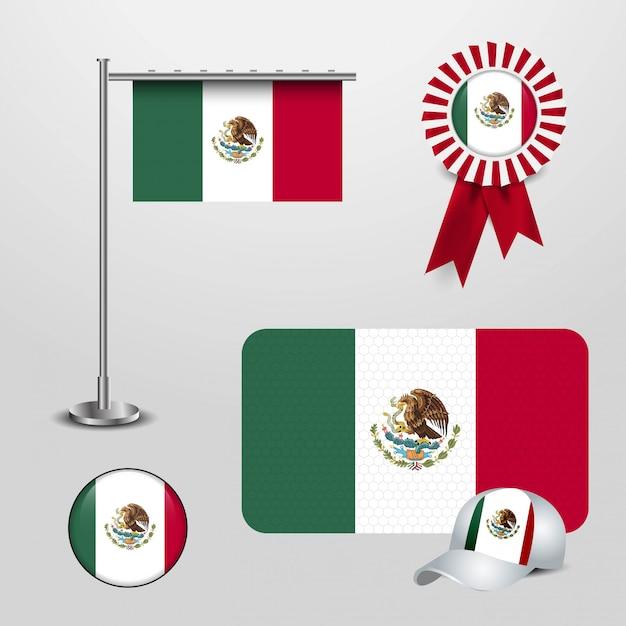 Bandera de méxico con vector de diseño creativo vector gratuito