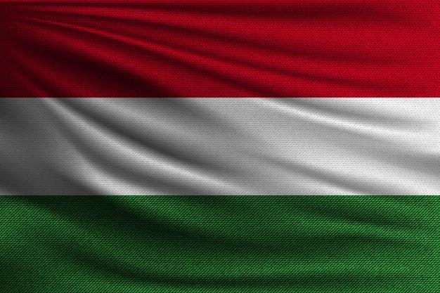 La bandera nacional de hungría. Vector Premium