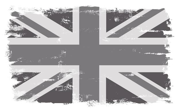 Bandera de reino unido vintage grunge Vector Premium