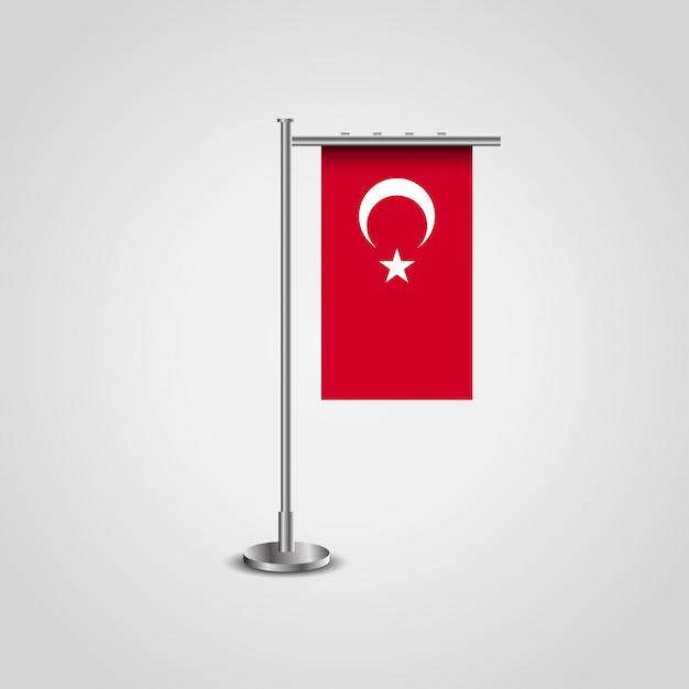 Bandera turca con el marco de la bandera | Descargar Vectores Premium