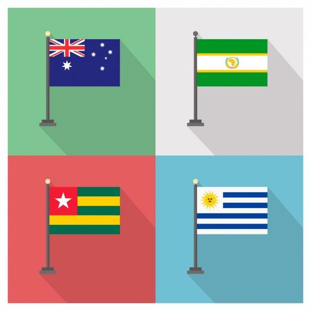 Banderas De Australia Unión Africana Togo Uruguay Descargar