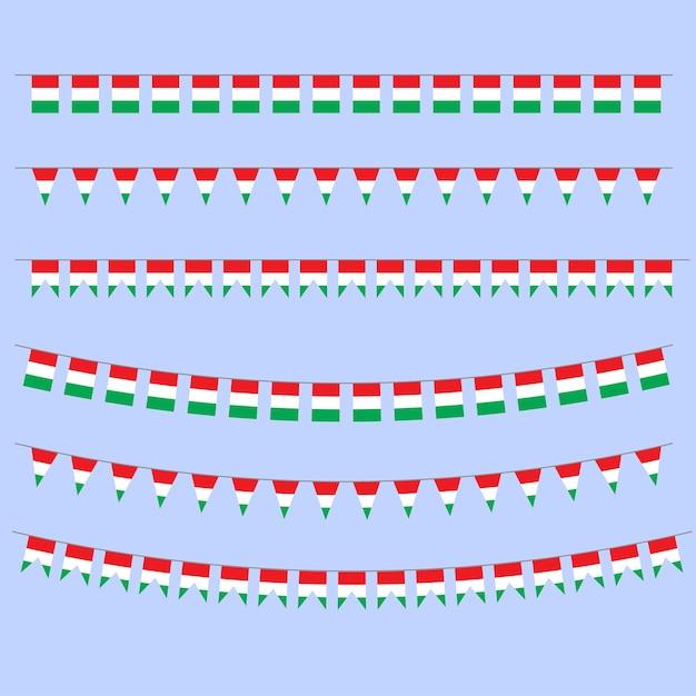 Banderas del empavesado Vector Premium