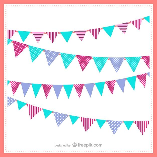 Banderines de colores   Descargar Vectores gratis