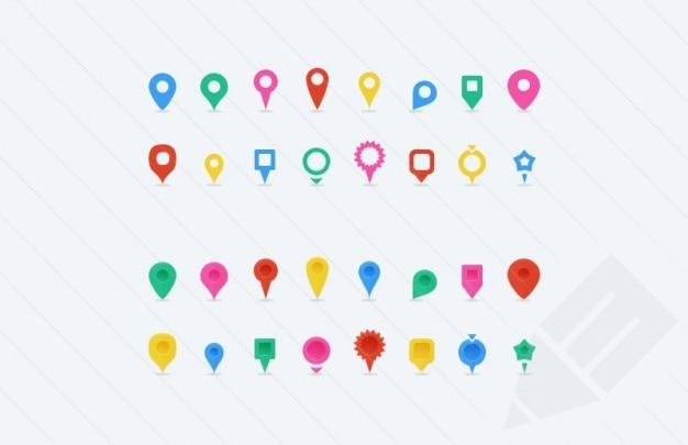 Mapa Con Un Puntero Ubicación: Banderines De Colores Para Mapas