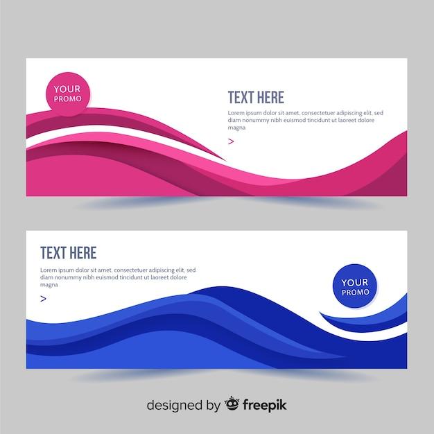 Banner abstracto formas abstractas Vector Premium