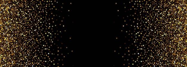 Banner abstracto de partículas negras y doradas vector gratuito