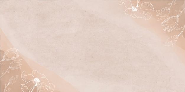Banner de acuarela con flores vector gratuito
