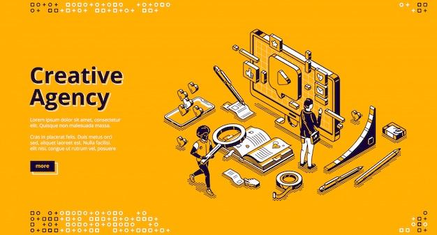 Banner para agencia creativa vector gratuito