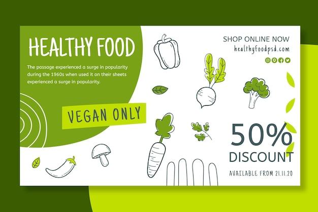Banner de alimentos saludables y bio vector gratuito