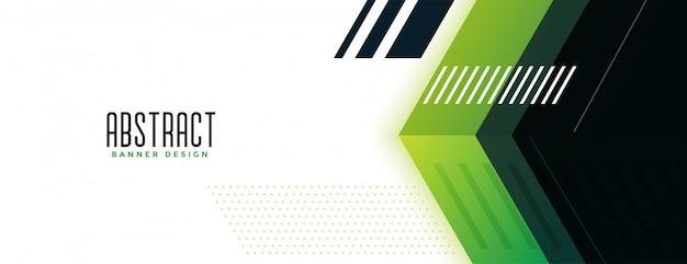Banner ancho de estilo moderno verde geométrico vector gratuito