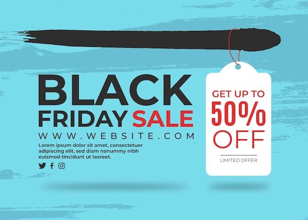 Banner black friday con etiqueta sobre fondo pintado vector gratuito